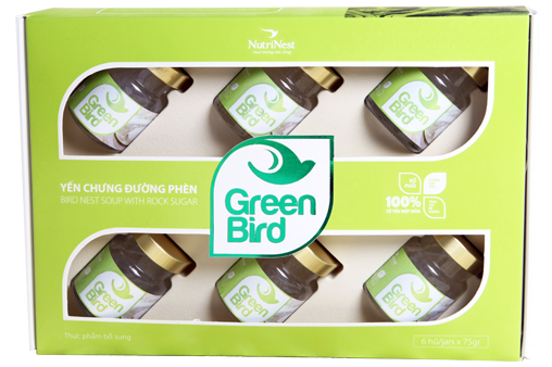 Nước Tổ Yến Sào Green Bird hộp quà 6 hũ 72gr