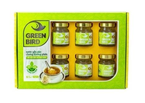 Quà tặng nước Tổ Yến Sào Green Bird Organic Hộp 6 Hũ 72Gr