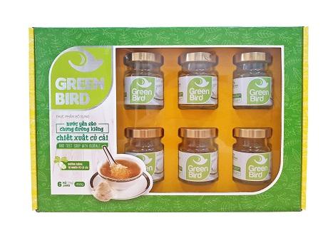 Quà tặng nước tổ yến sào Green Bird chưng đường củ cải - hộp 6 hũ 75gr